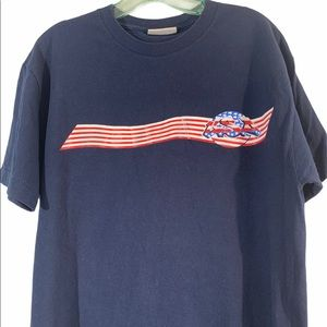 CANYON RIVER BLUES Med Blue Vintage Flag T Shirt